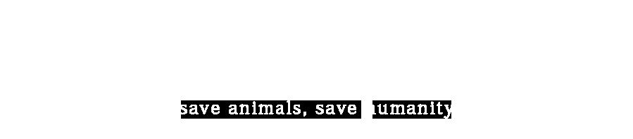 자연을 잊은 그대에게 save animals, save humanity
